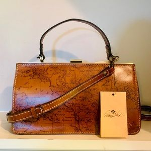 Patricia Nash Bellaria Frame Riot Rust Map Purse
